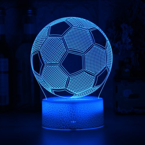 Soccer Ball Light 3D Illusion Kids Table Lamp