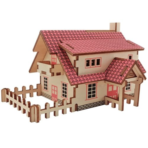 Wooden 3D House Puzzle DIY Set