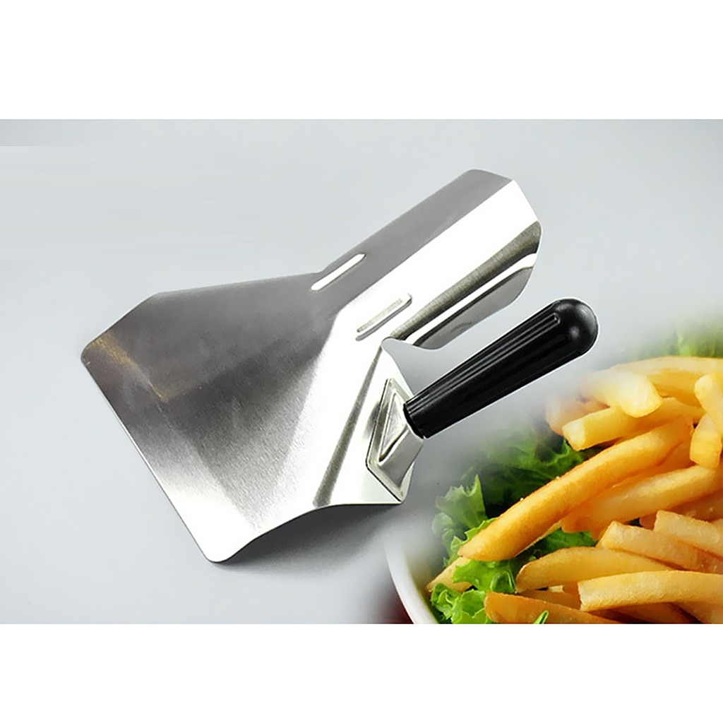 Stainless Steel Chip Scoop Food French Fries Popcorn Shovel Fry Scoop Bagger Single / Double Handle