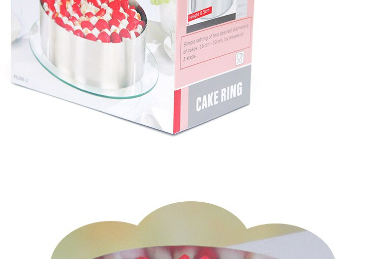 Cake Tins Adjustable Stainless Steel Round Cake Ring Baking Styling Decorating Mold for Kitchen