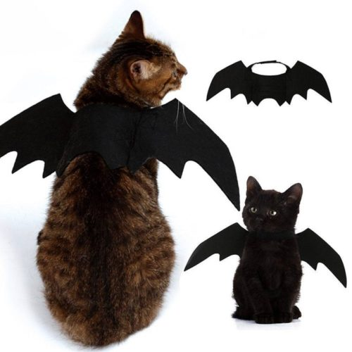 Adjustable Felt Bat Wings Cat Costume