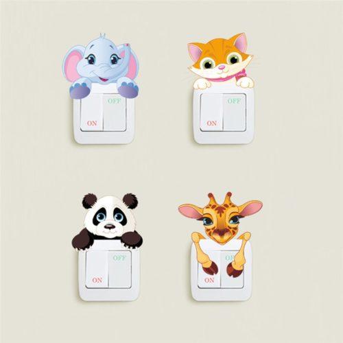 Light Switch Decal Cute Animal Sticker