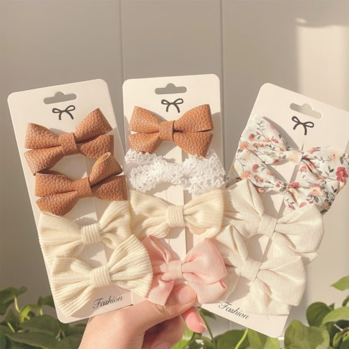 Baby Girl Hair Bows (4 pcs)