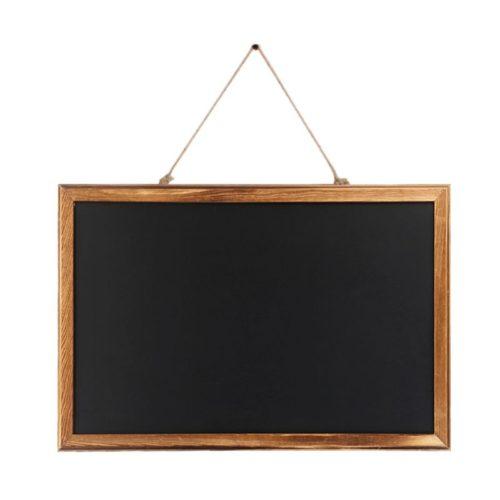 Wooden Hanging Chalkboard Sign