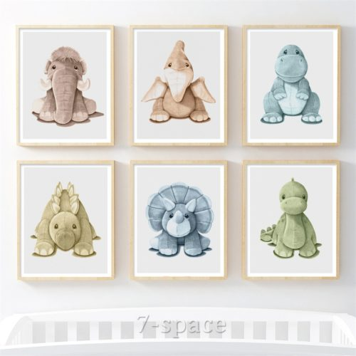 Nordic Animal Baby Room Poster