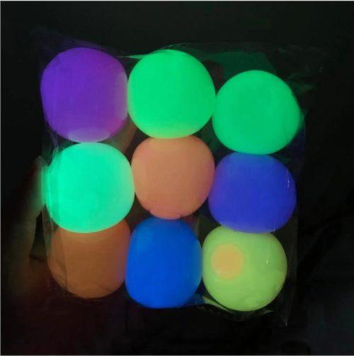 Luminous Sticky Ceiling Balls (6 Pcs)