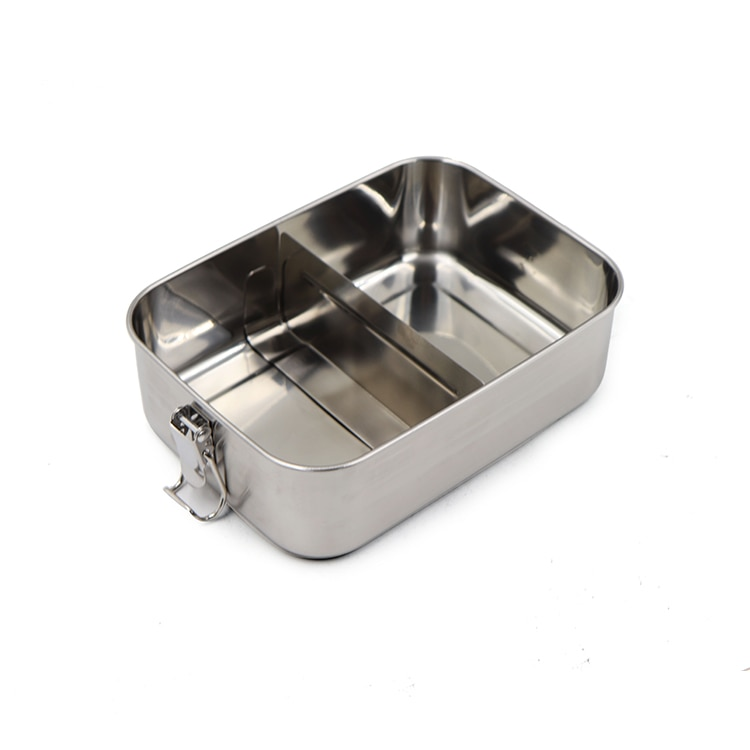 CHANOVEL 304 Stainless Steel Lunch Box Single Layer Adult Container Sealed Leakproof Rectangular ланч бокс with divider