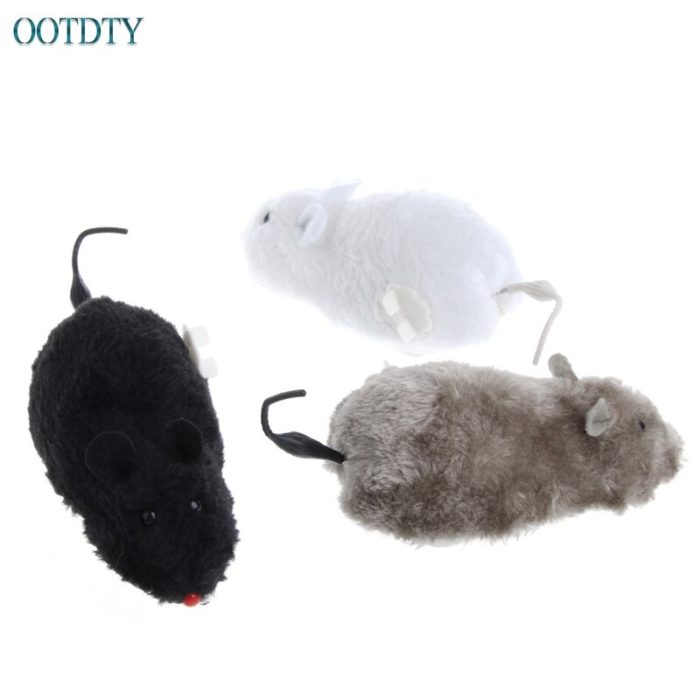 Plush Wind Up Mouse Toy for Cats