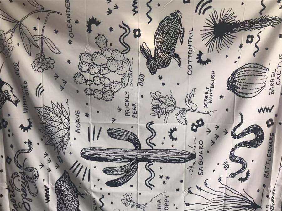 Saguaro Hippie Tapestry Wall Hanging Fabric Boho Decor Ouija Wall Cloth Tapestries Wall Carpet Gobelin Tapestry Cactus Mandalas