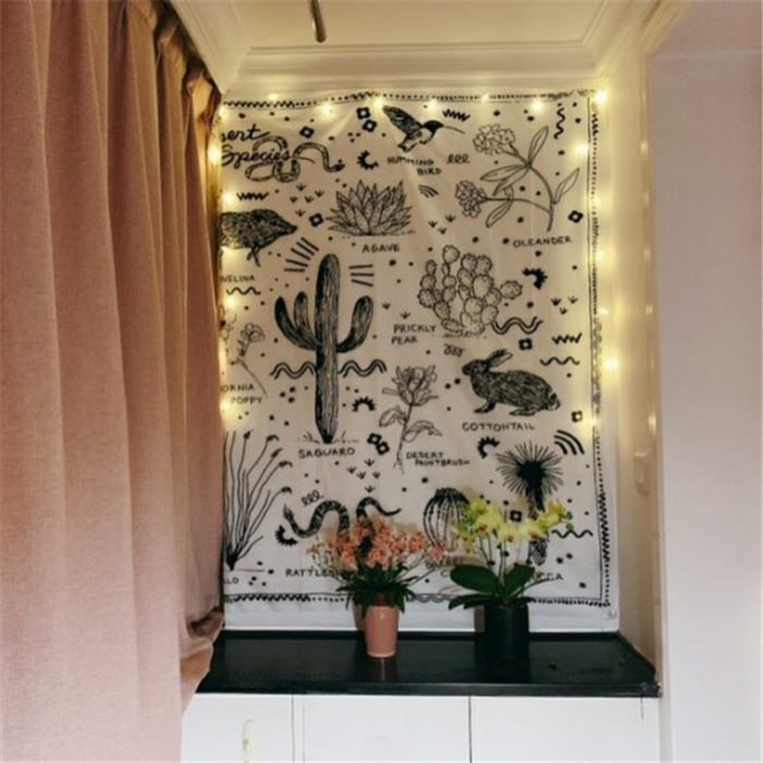 Wall Hanging Boho Cactus Tapestry