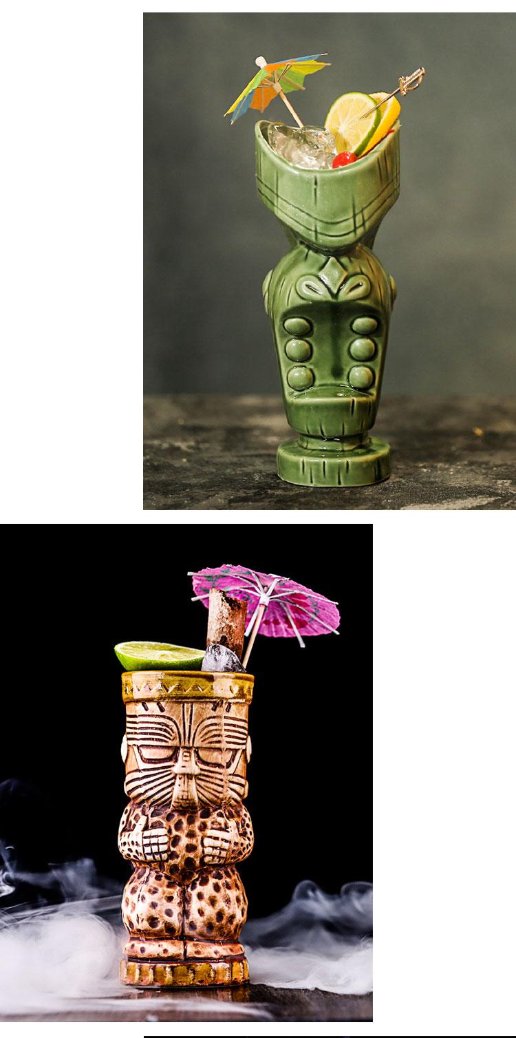 Tiki Mugs Personality Hawaiian Cocktail Cup Creative mugs ceramic Cup bar Zombie Cup ceramics tazas de ceramica creativas