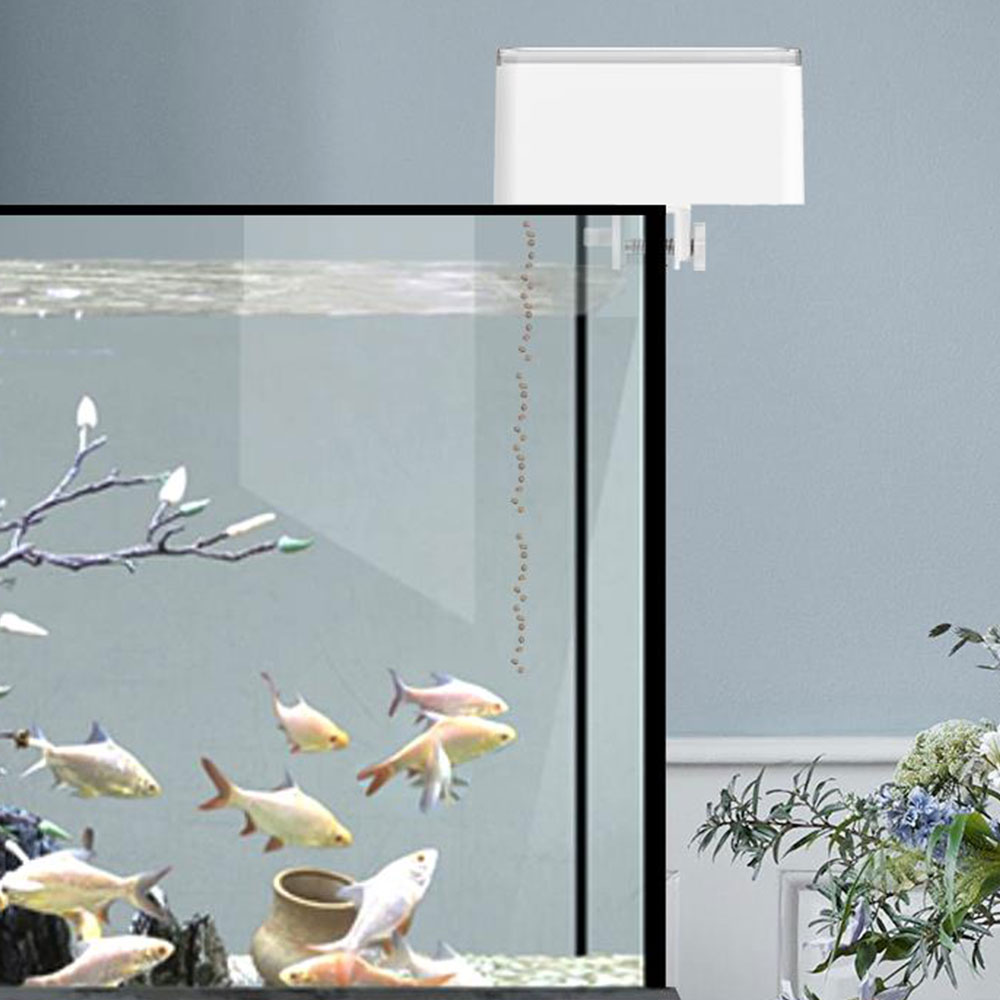 Aquarium Automatic Fish Feeder Household Fish Tank Intelligent Digital Display Timer Fish Food Dispenser Smart Fish Feeder 70ml
