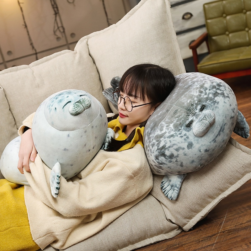 VIP Free Shipping High Quality 80cm Sea Lion Toy 3D Novelty Throw Pillow Soft Seal Plush Stuffed House warming Party Hold Pillow
