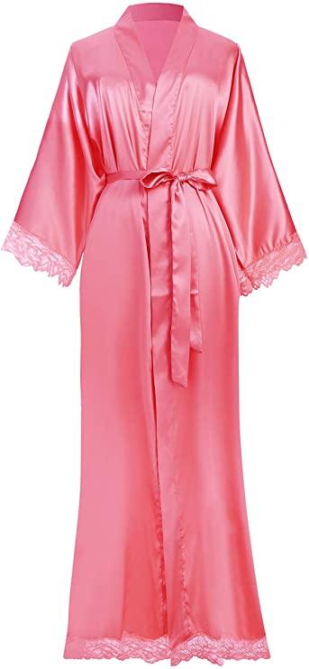 Laced Satin Silk Bridal Robe