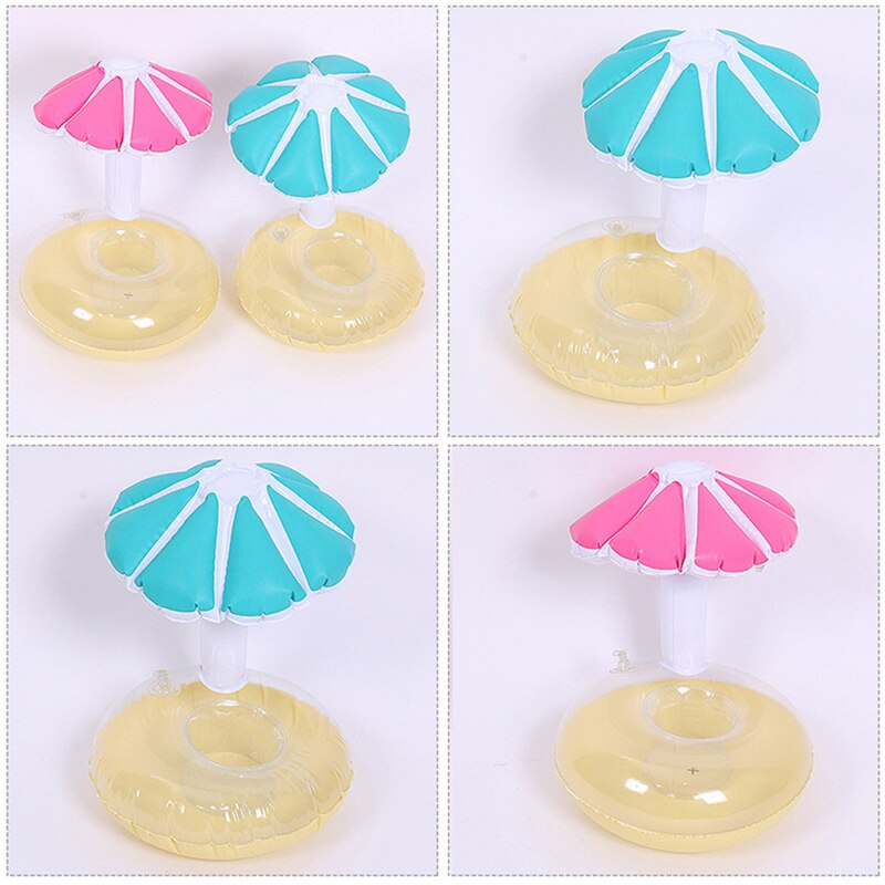 Air Mattresses for Cup Inflatable Flamingo Drinks Cup Holder Pool Floats Bar Coasters Floatation Devices Cute Toy Drink Holder