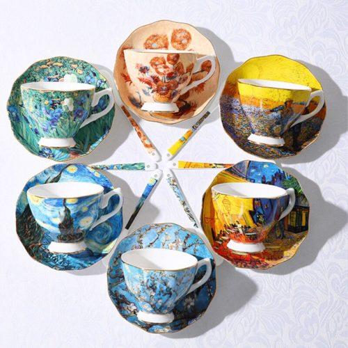 Cup and Saucer Van Gogh Tea Set