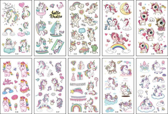 Fake Tattoos for Kids (10 Sheets/Set)
