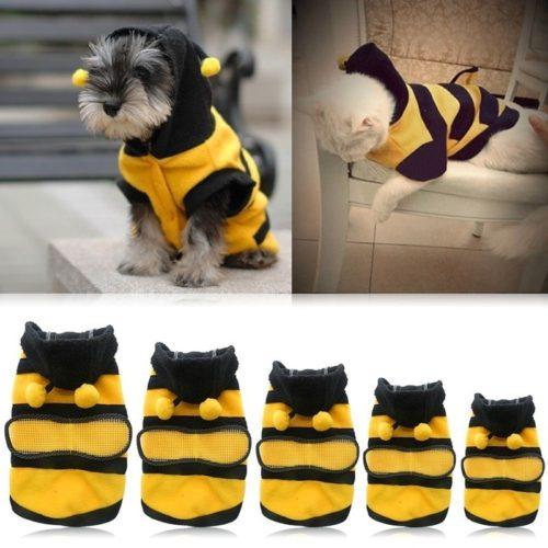 Bee Dog Costume Hoodie Pet Coat