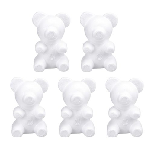 Styrofoam Bears Flower Mold (5 Pcs)