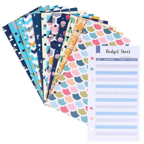 Budget Envelopes and Sheets Set