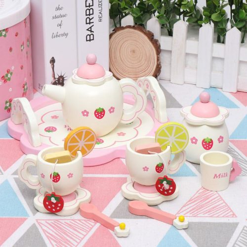 Wooden Kids Tea Party Set