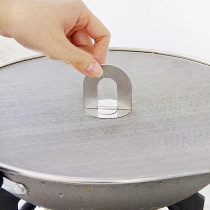 Stainless Frying Pan Splatter Guard Screen