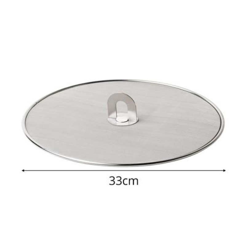 Food Grade Stainless Steel Oil Proofing Lid Frying Splash Handle Splatter Guard Pan Splatter Screen Kitchen Accessories