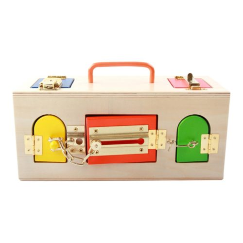 Montessori Wooden Toy Lock Box