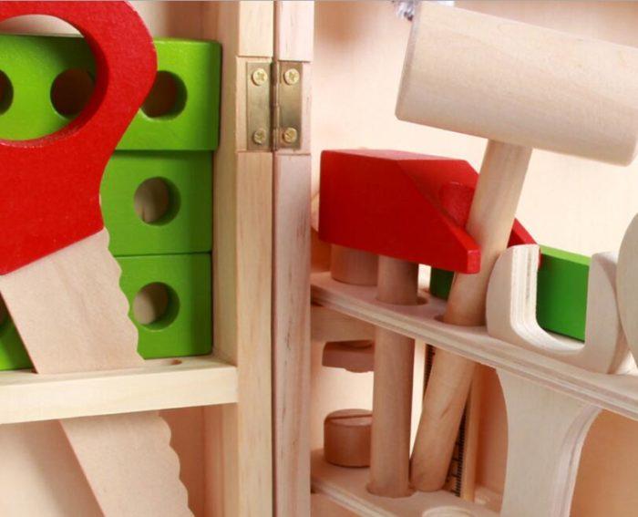Wooden Kids Tool Box Kit (20pcs)