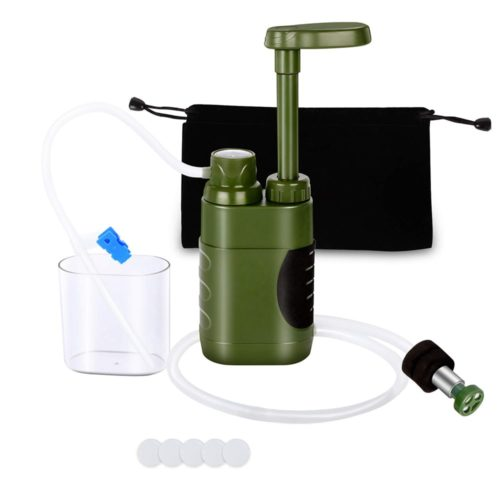 Portable Outdoor Water Filter System with Bag