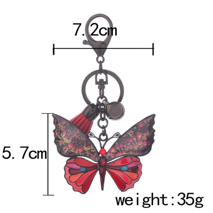 Butterfly Keychain Ladies Handbag Charm