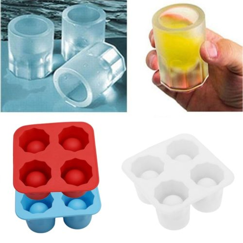 Shot Glass Ice Mold 4 Cup Shape Ice Tray