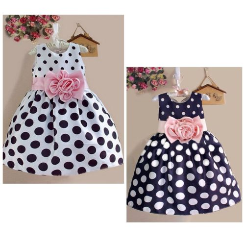 Sleeveless Kids Polka Dot Dress