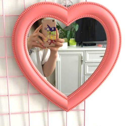 Heart Shaped Vanity Mirror for Women
