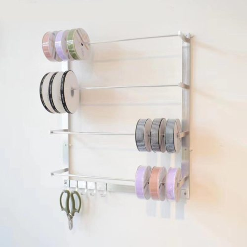 Wall-Mounted Ribbon Storage Rack