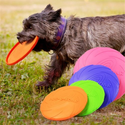Rubber Dog Frisbee Pet Training Toy