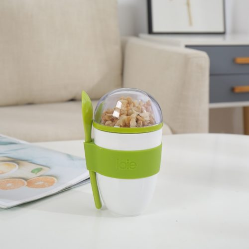 Portable Cereal Cup with Spoon