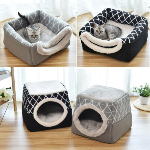Pet Bed Cave 2in1 Design Sleeping Nest