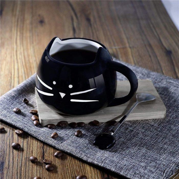 Cute Ceramic Kitten Mug