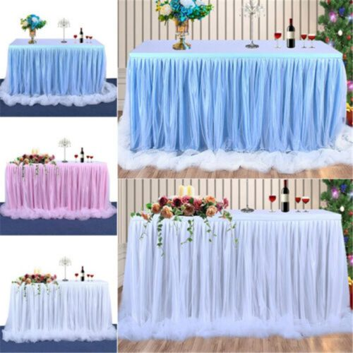 Tulle Table Skirt Party Decoration