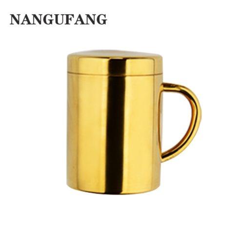 Steel Coffee Mug with Lid
