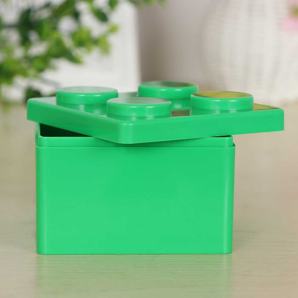 1 PC Creative Storage Box Building Block Shaped Plastic Saving Space Box Super Imposed Desktop Handy Office Keeping Puzzle Toy