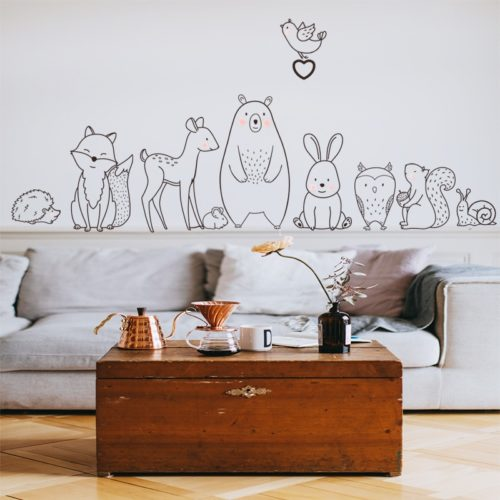Animal Wall Stickers Children Room Decals