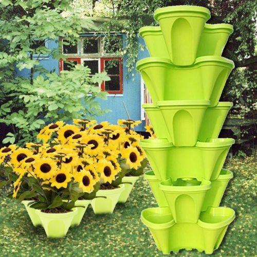 Stackable Plant Pot Plastic Planter