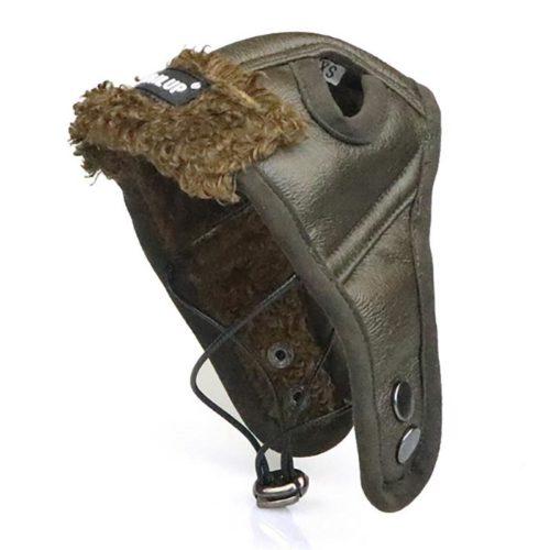 Adjustable Leather Dog Aviator Hat
