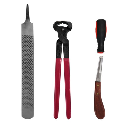 Ergonomic Horse Hoof Trimming Tools (4pcs)