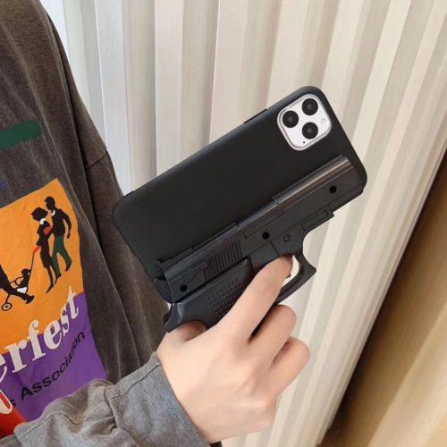 3D Silicone Gun iPhone Case
