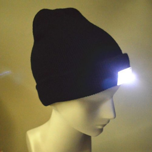 Elastic Cotton Lighted Beanie Hat