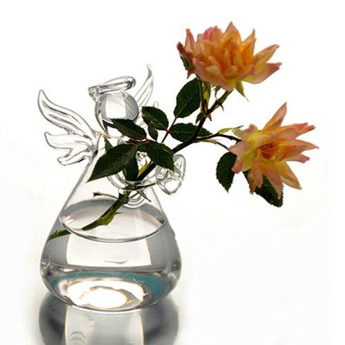 Angel Vase Glass Hanging Pot