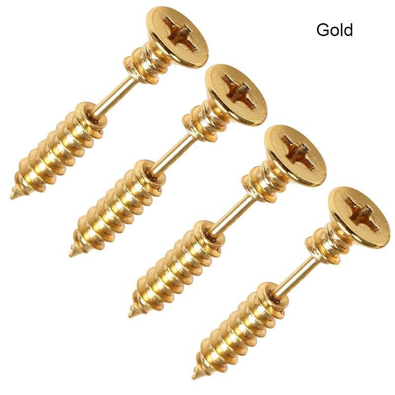 5Pcs Small Spiral Black Earring Women Earrings Jewelry Punk Rock Screw Stud Earrings For Men